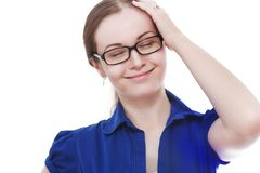 Woman remembered something Royalty Free Stock Images
