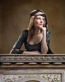 Woman in Renaissance dress Stock Photos