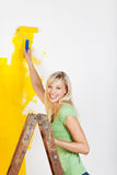 Woman renovating her apartment Stock Photography