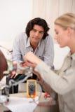 Woman repairing computer Stock Image