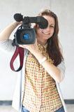 Woman reporter Royalty Free Stock Photos
