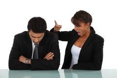 Woman Reprimanding Her Employee Stock Photography
