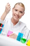 Woman researcher Royalty Free Stock Photos