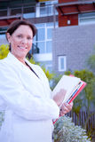 Woman Researcher Holding Documents Stock Photos