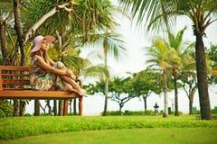 Woman at resort Stock Photos
