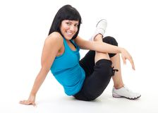 Woman rest after fitness Stock Image