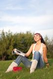 Woman rest in the park Stock Image