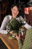 Woman at the restauran Royalty Free Stock Image