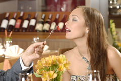 Woman in restaurant Royalty Free Stock Photo
