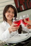 Woman at a restaurant Royalty Free Stock Photography