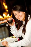 Woman at a restaurant Stock Photography