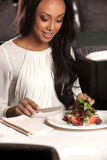 Woman at the restaurant. Royalty Free Stock Photos
