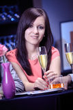 Woman in a restaurant Royalty Free Stock Photos