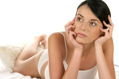Woman resting Stock Image