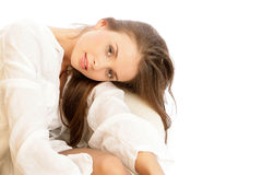 Woman resting Royalty Free Stock Images