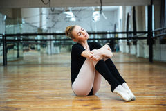Woman resting in ballet class Royalty Free Stock Photo