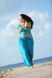 Woman resting at the beach Royalty Free Stock Images