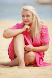 Woman resting at the beach Royalty Free Stock Photos