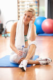 Woman Resting After Exercise Stock Image