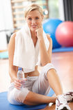 Woman Resting After Exercises Stock Photography