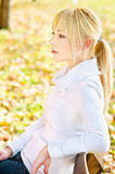 Woman resting in park Stock Photos