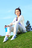 Woman resting in the park Royalty Free Stock Photography