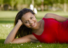 Woman resting in the park Stock Photography