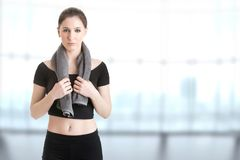 Woman Resting After Workout Royalty Free Stock Images