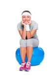 Woman resting after training Royalty Free Stock Photo