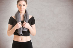 Woman Resting After Workout Stock Photo