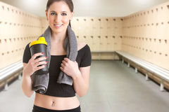 Woman Resting After Workout Stock Images