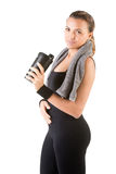 Woman Resting After Workout Stock Photos