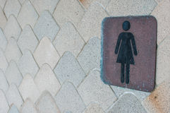 Woman restroom sign Royalty Free Stock Photos