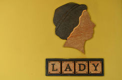 Woman restroom sign Stock Photos
