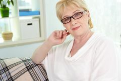 Woman on retire Stock Image