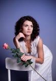 Woman in retro bridal dress Royalty Free Stock Photo