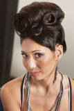 Woman in Retro Hairdo Stock Images