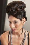 Woman in Retro Hairdo Stock Images