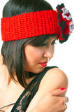 Woman in the retro hat Royalty Free Stock Photography