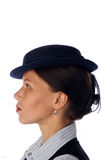 Woman in a retro hat Royalty Free Stock Photo