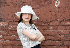 Woman in retro hat Royalty Free Stock Images