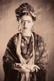 Woman retro Stock Photography