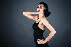 Woman in retro style Royalty Free Stock Photo