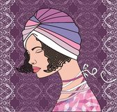 Woman retro style Royalty Free Stock Photos