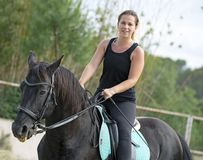 Woman rider and horse Royalty Free Stock Photography