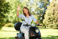 Woman riding Royalty Free Stock Image