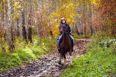 Woman riding Royalty Free Stock Photography