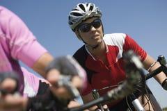 Woman Riding Bicycle Royalty Free Stock Photos
