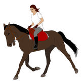 Woman riding horse 3. Vector Stock Images