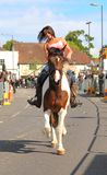 Woman riding a horse at Wickham Horse Fair Stock Photography